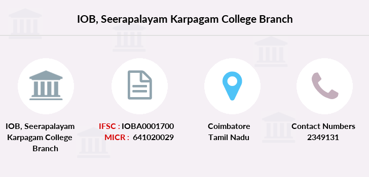 Indian-overseas-bank Seerapalayam-karpagam-college branch