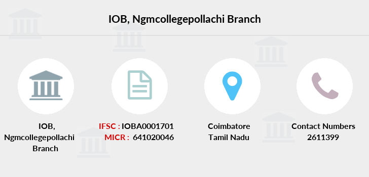 Indian-overseas-bank Ngmcollegepollachi branch