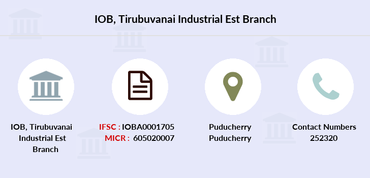 Indian-overseas-bank Tirubuvanai-industrial-est branch