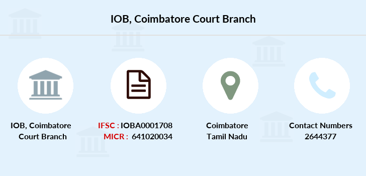 Indian-overseas-bank Coimbatore-court branch