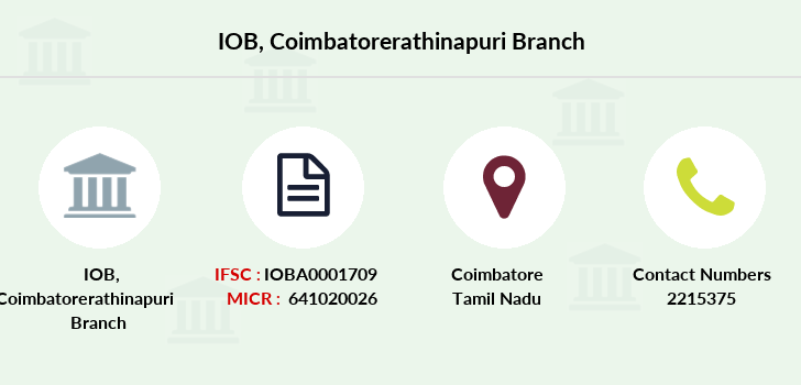 Indian-overseas-bank Coimbatorerathinapuri branch