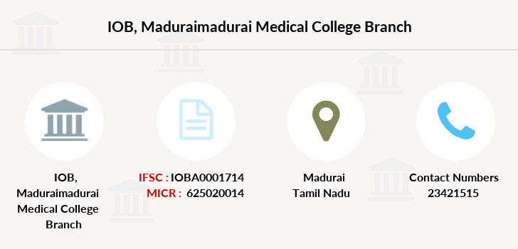 Indian-overseas-bank Maduraimadurai-medical-college branch