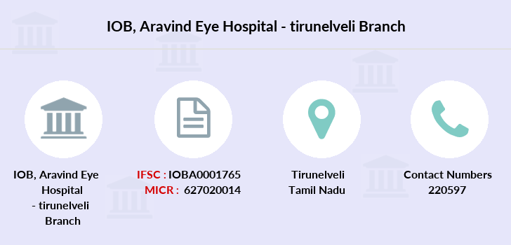 Indian-overseas-bank Aravind-eye-hospital-tirunelveli branch
