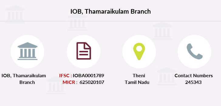 Indian-overseas-bank Thamaraikulam branch