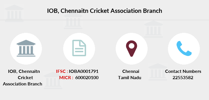 Indian-overseas-bank Chennaitn-cricket-association branch