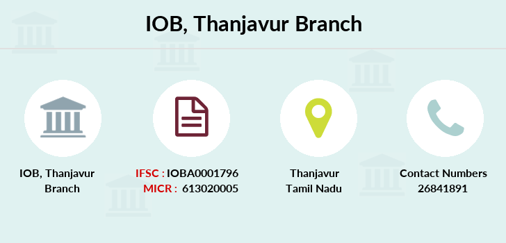 Indian-overseas-bank Thanjavur branch