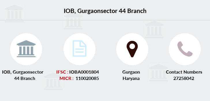 Indian-overseas-bank Gurgaonsector-44 branch