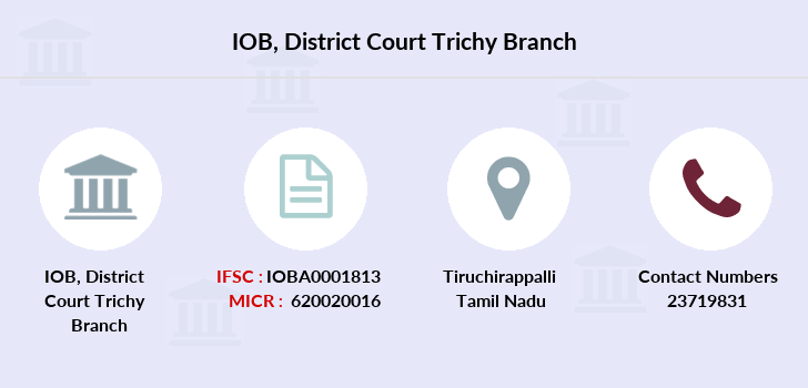 Indian-overseas-bank District-court-trichy branch