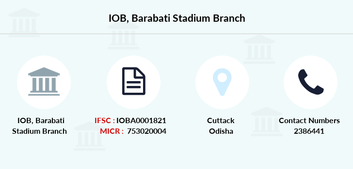 Indian-overseas-bank Barabati-stadium branch