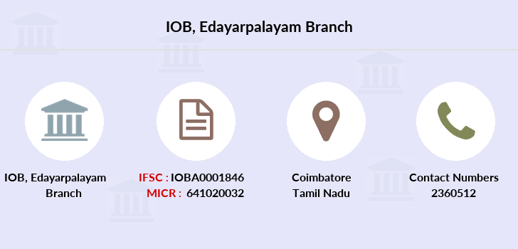 Indian-overseas-bank Edayarpalayam branch