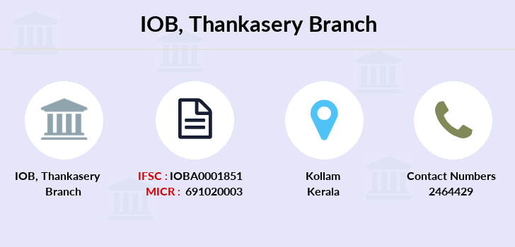 Indian-overseas-bank Thankasery branch