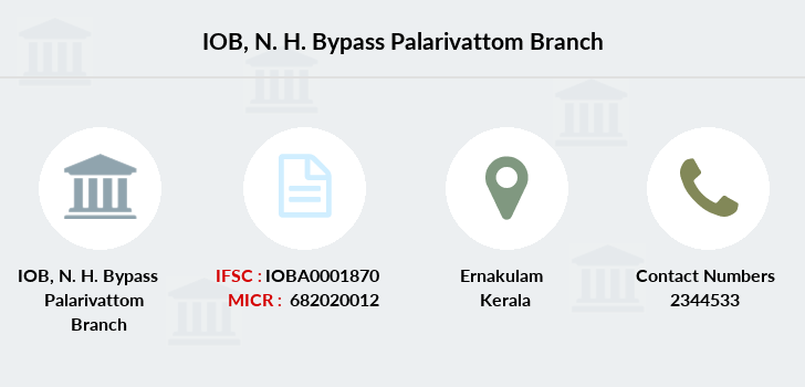 Indian-overseas-bank N-h-bypass-palarivattom branch