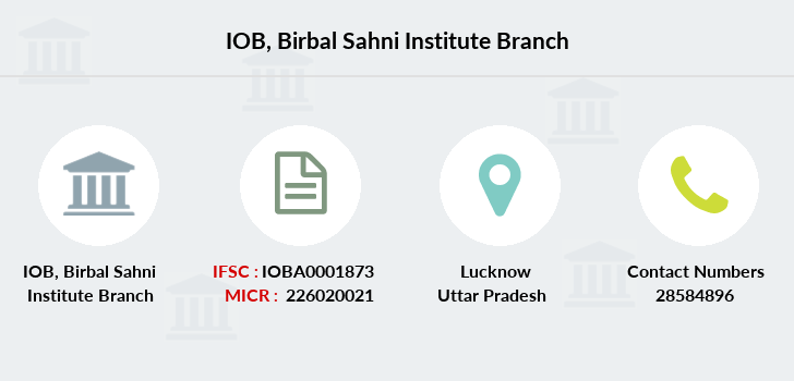 Indian-overseas-bank Birbal-sahni-institute branch