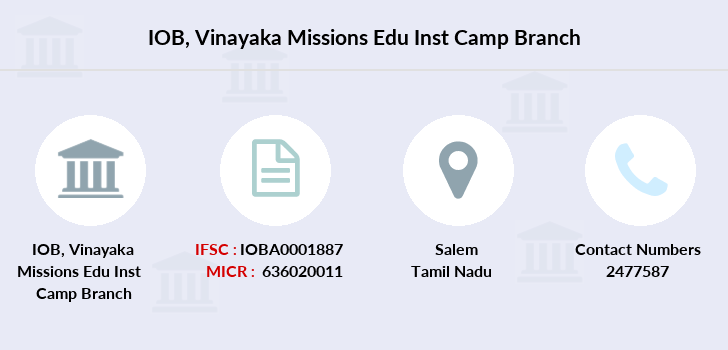 Indian-overseas-bank Vinayaka-missions-edu-inst-camp branch