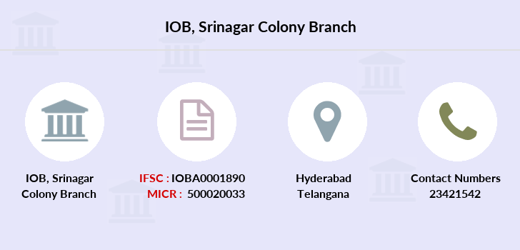 Indian-overseas-bank Srinagar-colony branch