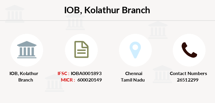 Indian-overseas-bank Kolathur branch