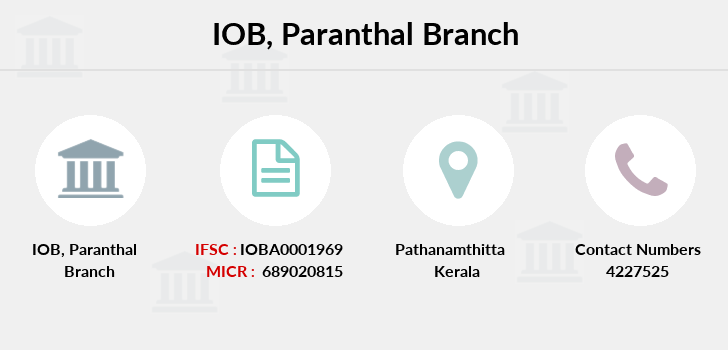 Indian-overseas-bank Paranthal branch