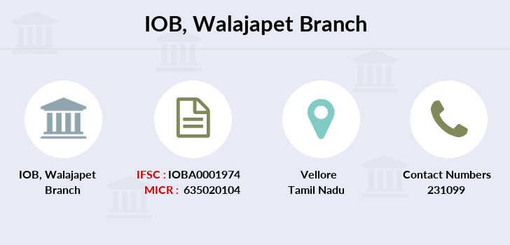 Indian-overseas-bank Walajapet branch