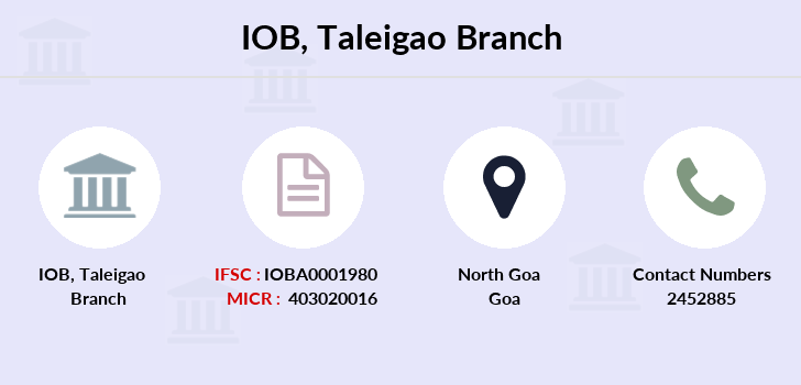 Indian-overseas-bank Taleigao branch