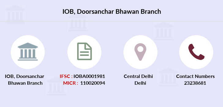 Indian-overseas-bank Doorsanchar-bhawan branch