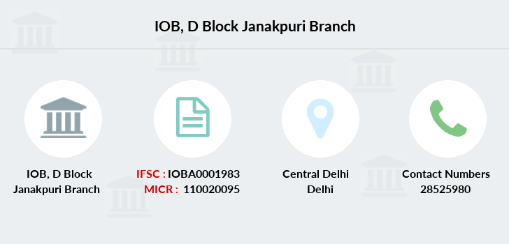 Indian-overseas-bank D-block-janakpuri branch