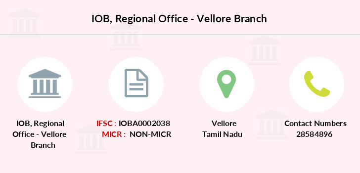 Indian-overseas-bank Regional-office-vellore branch