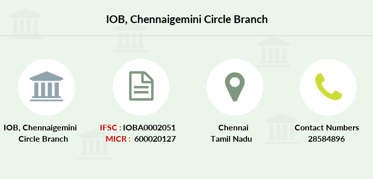 Indian-overseas-bank Chennaigemini-circle branch