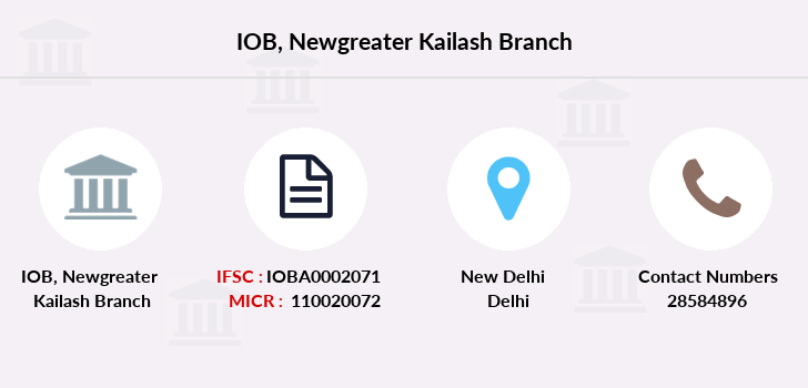 Indian-overseas-bank Newgreater-kailash branch
