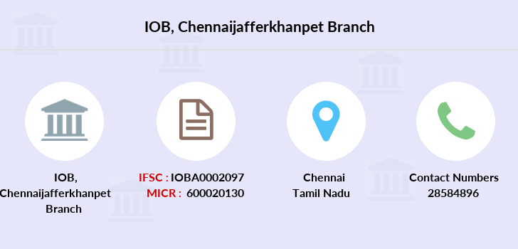 Indian-overseas-bank Chennaijafferkhanpet branch