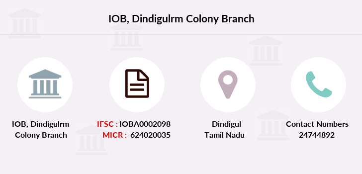 Indian-overseas-bank Dindigulrm-colony branch