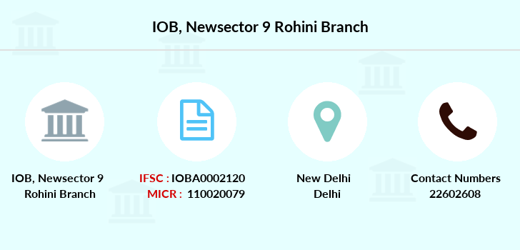 Indian-overseas-bank Newsector-9-rohini branch