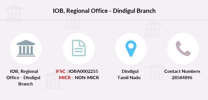 Indian-overseas-bank Regional-office-dindigul branch