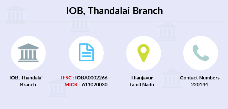 Indian-overseas-bank Thandalai branch