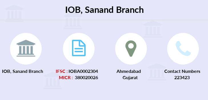 Indian-overseas-bank Sanand branch