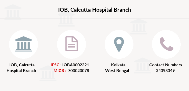 Indian-overseas-bank Calcutta-hospital branch