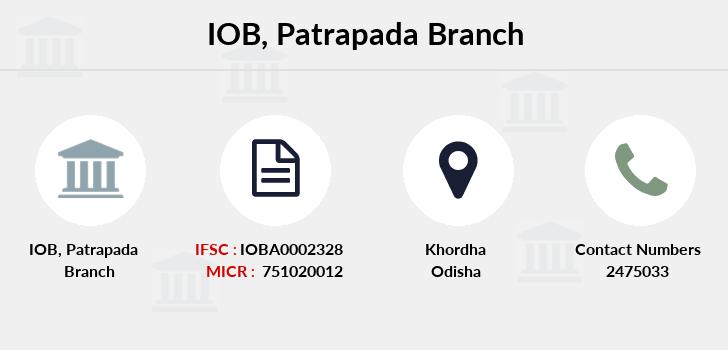 Indian-overseas-bank Patrapada branch