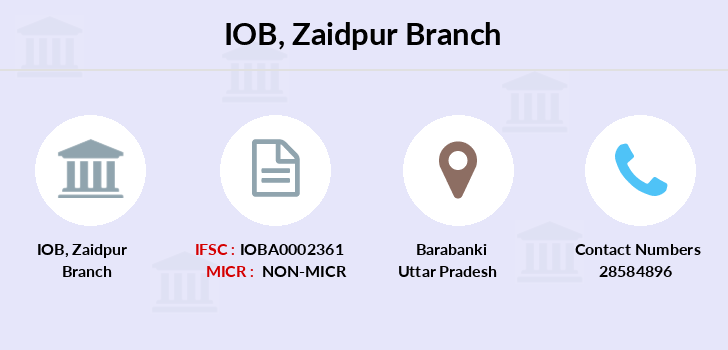 Indian-overseas-bank Zaidpur branch