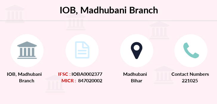 Indian-overseas-bank Madhubani branch
