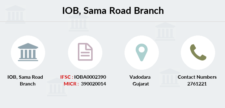 Indian-overseas-bank Sama-road branch