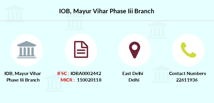 Indian-overseas-bank Mayur-vihar-phase-iii branch