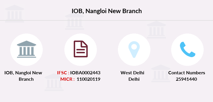 Indian-overseas-bank Nangloi-new branch