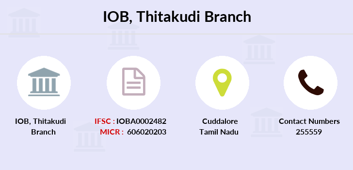 Indian-overseas-bank Thitakudi branch