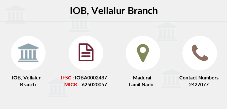 Indian-overseas-bank Vellalur branch