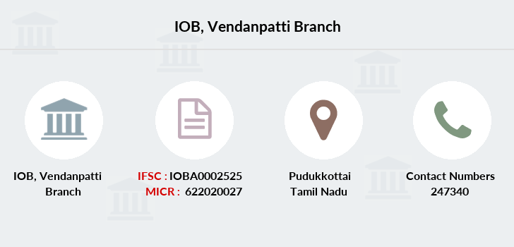 Indian-overseas-bank Vendanpatti branch