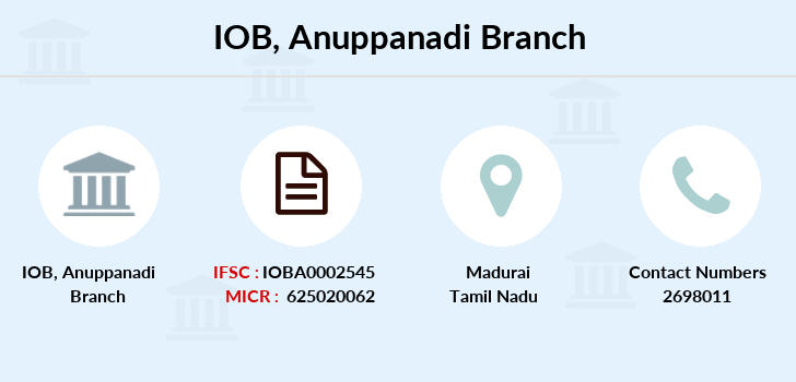 Indian-overseas-bank Anuppanadi branch