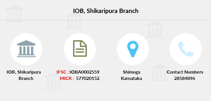 Indian-overseas-bank Shikaripura branch