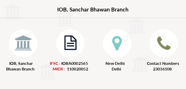 Indian-overseas-bank Sanchar-bhawan branch