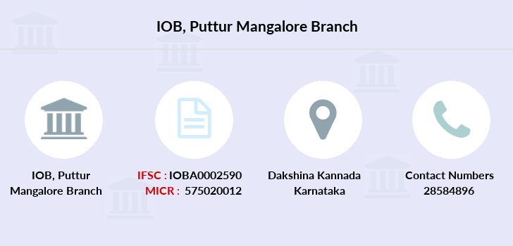 Indian-overseas-bank Puttur-mangalore branch