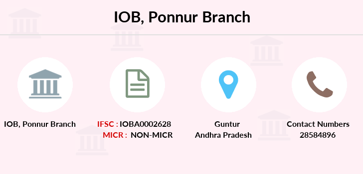 Indian-overseas-bank Ponnur branch