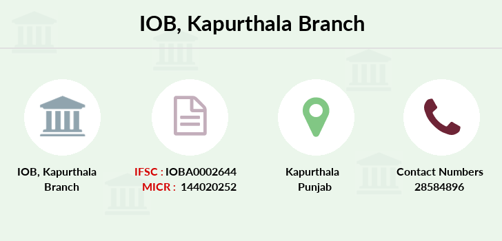 Indian-overseas-bank Kapurthala branch